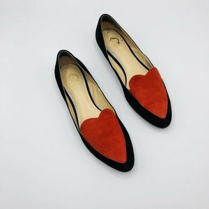 C. Wonder RARE Heart Loafers Suede Size 8 Flats